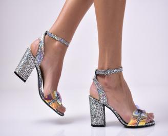 Дамски елегантни сандали еко кожа шарени HORF-1013665