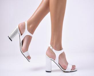 Дамски елегантни сандали еко кожа бели RIUO-1013736