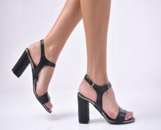 Дамски елегантни сандали еко кожа черни JSEO-1013742