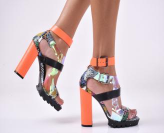 Дамски елегантни сандали  шарени QGGQ-1013891