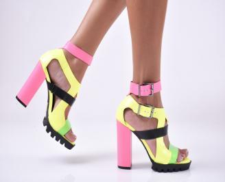 Дамски елегантни сандали  шарени ZPGB-1013892