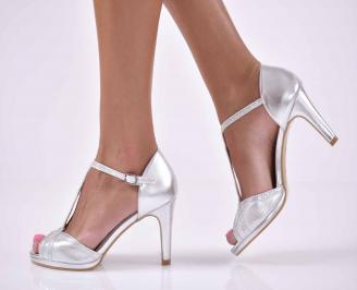 Дамски елегантни сандали сребрист  TPFO-1015904