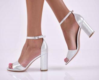 Дамски елегантни сандали сребрист  WPZH-1015906