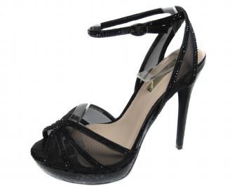 Дамски елегантни сандали еко кожа черни UMOP-20844