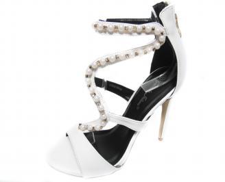 Дамски елегантни сандали еко кожа  бели YNRR-20855