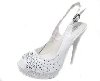 Дамски елегантни сандали еко кожа бели JVMU-20983
