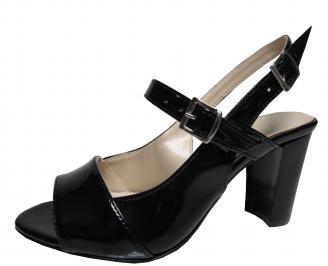 Дамски елегантни сандали еко кожа/лак черни IYVC-21541