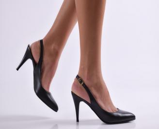 Дамски елегантни сандали черни еко кожа WWEG-21827