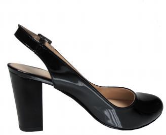 Дамски елегантни сандали черни еко кожа/лак YCUE-21828