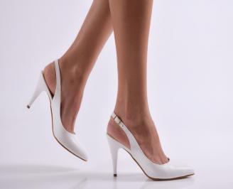 Дамски елегантни сандали бели еко кожа PTLV-21844