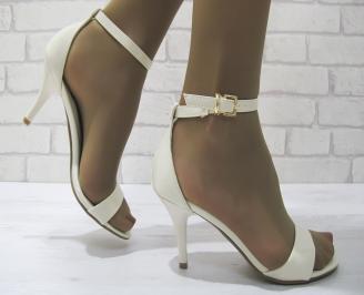 Дамски елегантни сандали  светло бежови еко кожа PVHD-23322
