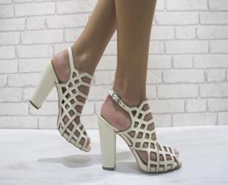 Дамски елегантни сандали еко кожа бежови ZHOG-24096