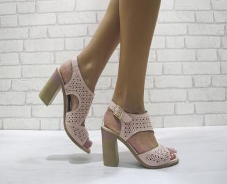 Дамски елегантни сандали еко кожа розови HHKP-24102