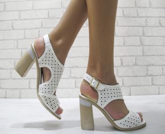 Дамски елегантни сандали еко кожа бели EDXE-24210