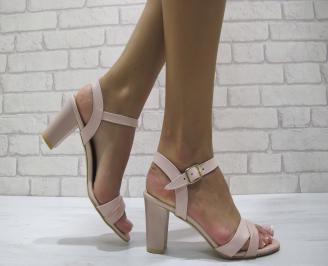 Дамски елегантни сандали еко кожа розови GJTE-24228