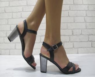 Дамски елегантни сандали еко кожа   черни AGGW-24241