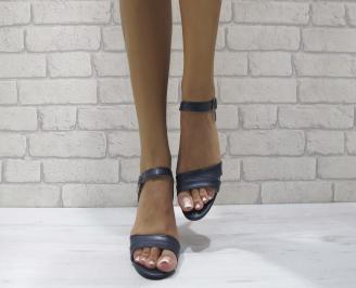 Дамски елегантни сандали еко кожа тъмно сини VFQY-24256