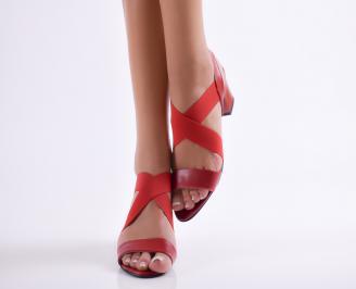 Дамски елегантни сандали еко кожа червени VAHP-24381