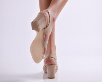 Дамски елегантни сандали еко кожа кафяви UMVD-24384
