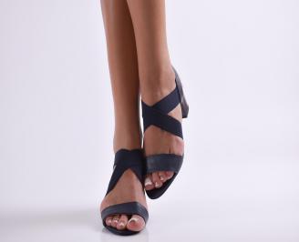 Дамски елегантни сандали еко кожа сини MYJF-24386