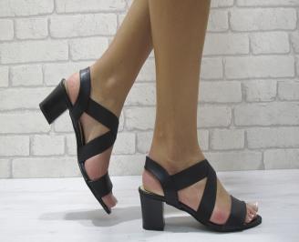 Дамски елегантни сандали еко кожа черни GCAK-24387