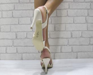 Дамски елегантни сандали еко кожа бежово UHXS-24435
