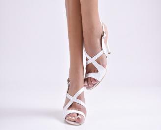 Дамски елегантни сандали еко кожа/лак бяло XVGR-24437