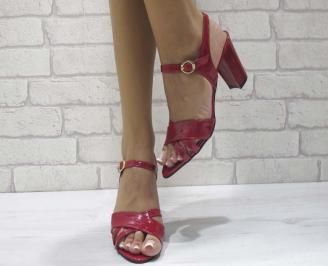 Дамски елегантни сандали еко кожа/лак червени ZFCP-24607