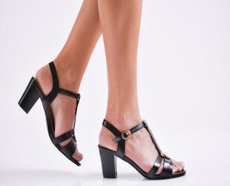 Дамски елегантни сандали еко кожа черни NRRK-27110
