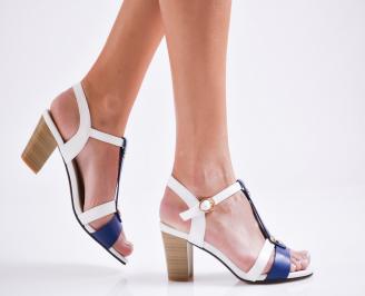 Дамски елегантни сандали еко кожа бели ZMKU-27111