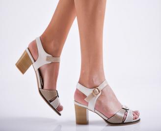 Дамски елегантни сандали еко кожа бежови TCBL-27113