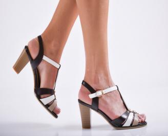 Дамски елегантни сандали еко кожа кафяви AZBD-27114