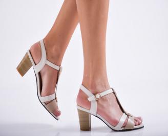 Дамски елегантни сандали еко кожа бежови DLFK-27115
