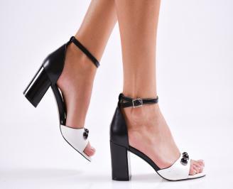Дамски елегантни сандали еко кожа черни WPRM-27474