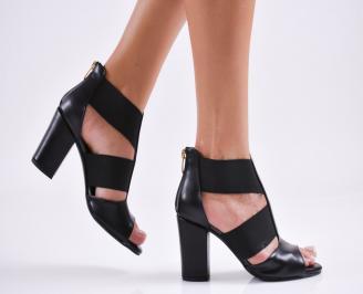 Дамски елегантни сандали еко кожа черни ZWLB-27501