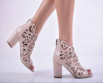 Дамски елегантни сандали еко кожа бежови MVYO-27507