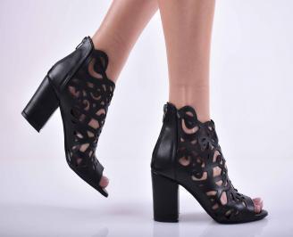 Дамски елегантни сандали еко кожа черни YCAX-27527