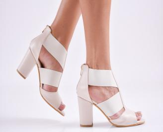 Дамски елегантни сандали еко кожа бежови UQMZ-27529