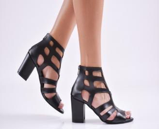 Дамски елегантни сандали еко кожа черни VYSM-27663
