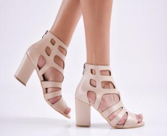 Дамски елегантни сандали еко кожа бежови EEDJ-27670