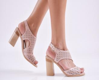 Дамски елегантни сандали еко кожа розови GFSE-27685