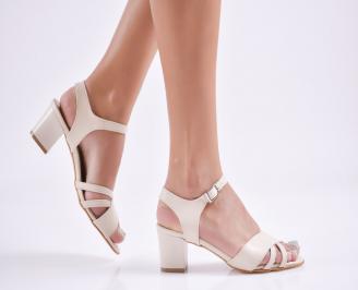 Дамски елегантни сандали еко кожа бежови DZMS-27714