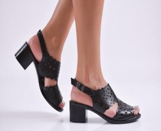 Дамски елегантни сандали еко кожа черни OABX-27719