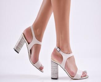 Дамски елегантни сандали еко кожа бежови NCNG-27720