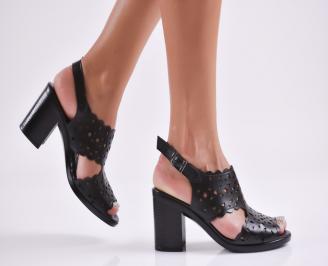 Дамски елегантни сандали еко кожа черни AUYF-27723