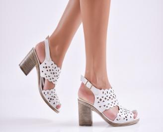 Дамски елегантни сандали еко кожа бели XRXM-27724