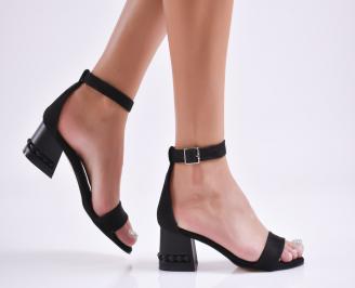 Дамски елегантни сандали еко кожа черни XADS-27727