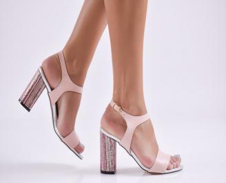 Дамски елегантни сандали еко кожа розови XDOH-27749