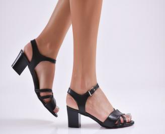 Дамски елегантни сандали еко кожа черни GGVT-27760