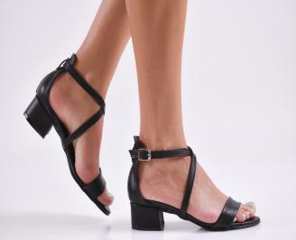 Дамски елегантни сандали еко кожа черни JQDC-27793